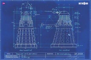 Dalek Blueprints Poster Memorabilia