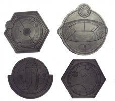 Gallifreyan Coasters New Designs Memorabilia